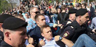 Арестуването на Алексей Навални; Снимка: Асошиейтед Прес
