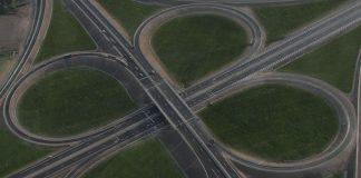 Рядко срещан пътен възел в България, но пък турен за емблема; Снимка: скрийншот от уебсайта bgtoll.bg