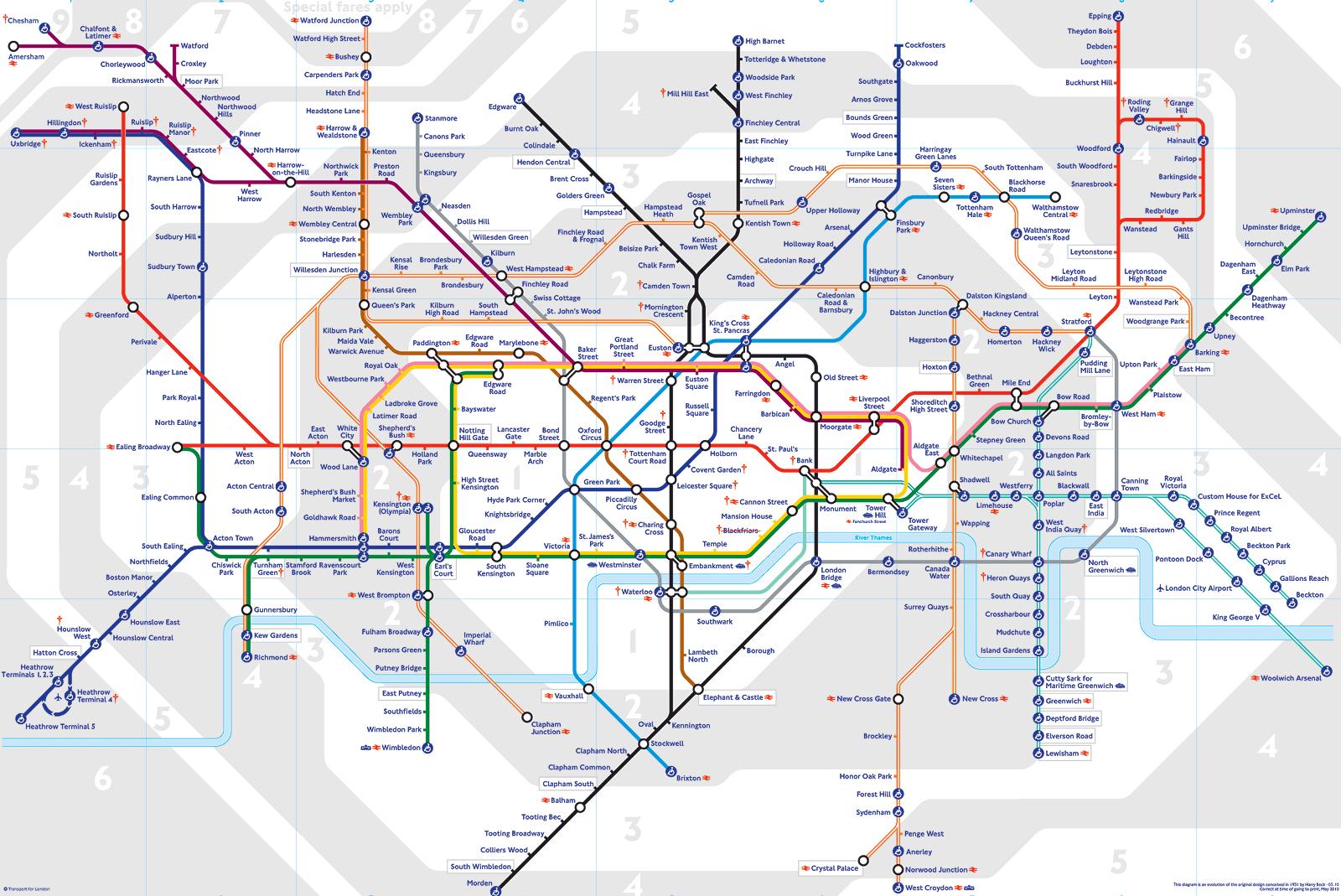 Карта на Лондонското метро; Снимка: TFL