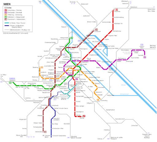 Карта на Виенското метро; Снимка: Wiener Linien