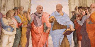 """Колаж по фреската на Рафаел """"Атинската школа"""""""