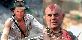 Атанас Чобанов (гл. редактор на Бивол) като Индиана Джоунс в битка с Мола Рам Гешов; Снимки: Интернет, Колаж: Меги Р.